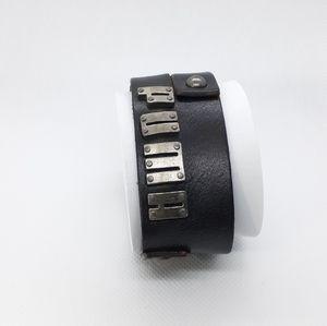 Puma leather wristband